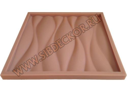 Форма для 3D панели Волна-2